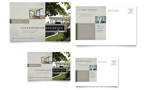 Contemporary Residence Flyer Template Design