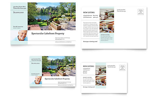 Lakefront Property Postcard Template