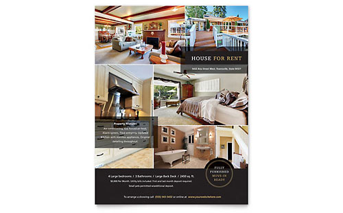 House for Rent Flyer Design Template
