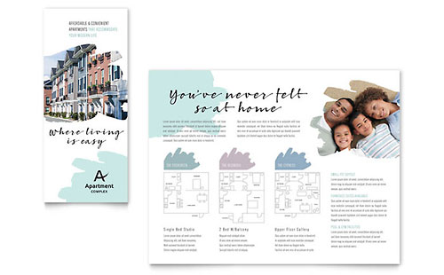 apartment condominium brochure template design