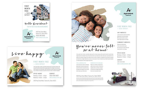 apartment newsletter template design