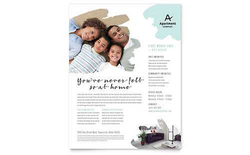 Apartment Flyer Design Template