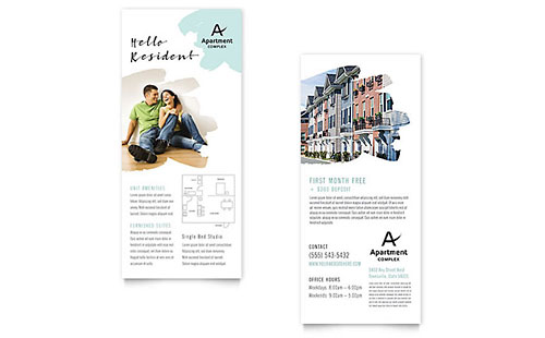apartment rack card template design. Black Bedroom Furniture Sets. Home Design Ideas