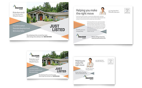 Realtor Postcard Template Design