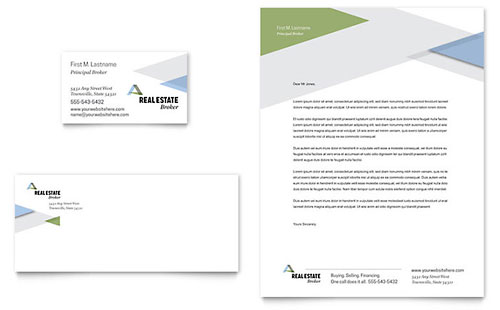 Real estate business cards templates design examples realtor business card letterhead flashek Image collections