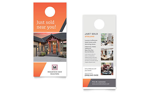 Mountain Real Estate Rack Card Template Design