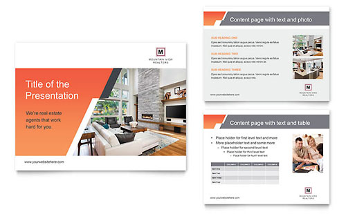 Mountain Real Estate PowerPoint Presentation Template Design