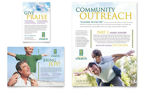 Christian Church Flyer & Ad