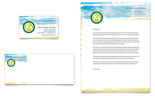 Special Education Business Card & Letterhead Template Design