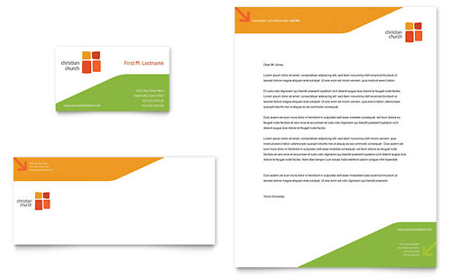 Church Youth Ministry Business Card & Letterhead