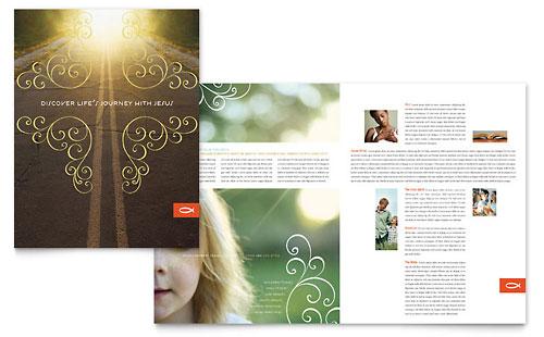 memorial  u0026 funeral program brochure template design