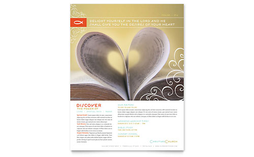 Christian Church Religious Flyer Template Design