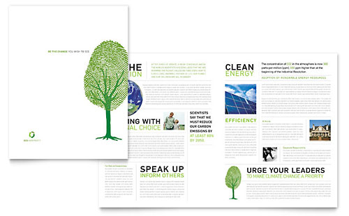 Environmental Non Profit Brochure Template