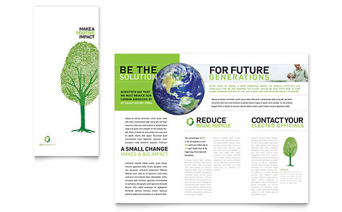 Environmental Non Profit Tri Fold Brochure