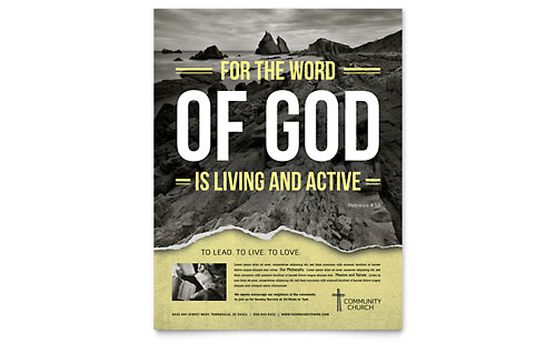 Bible Church Flyer Template Design