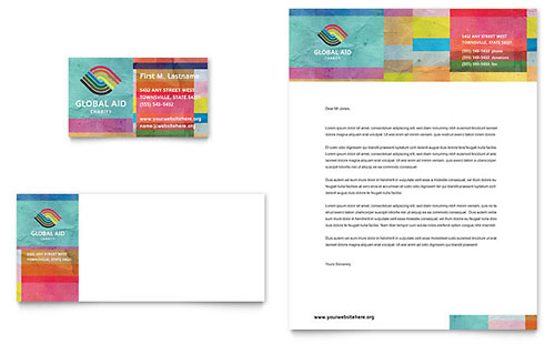 Humanitarian Aid Organization Business Card & Letterhead