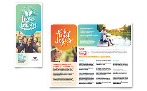 Church Marketing Brochures Flyers Newsletters Postcards - Marketing brochures templates