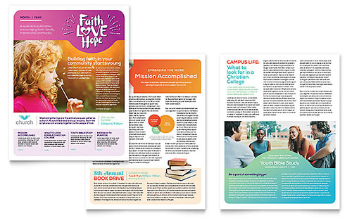Newsletter Templates  Indesign Illustrator Publisher Word