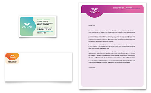 Church Business Card & Letterhead Template