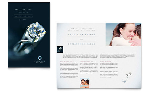 Jeweler & Jewelry Store Brochure Template