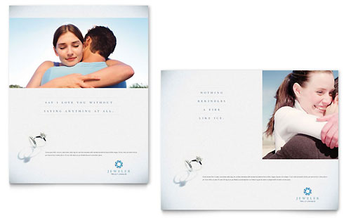 Jeweler  Jewelry Store Brochure Template Design