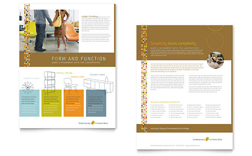 Furniture Design Templates furniture store brochure template design