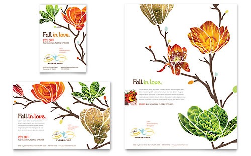 Flower Shop Flyer & Ad Template Design