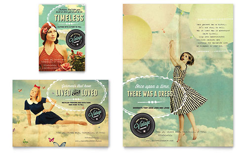 Vintage Clothing Flyer & Ad Template Design