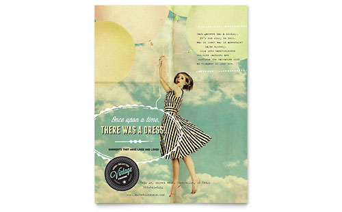 Vintage Clothing Flyer Template Design
