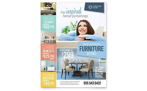 Home Furnishings Flyer Design Template