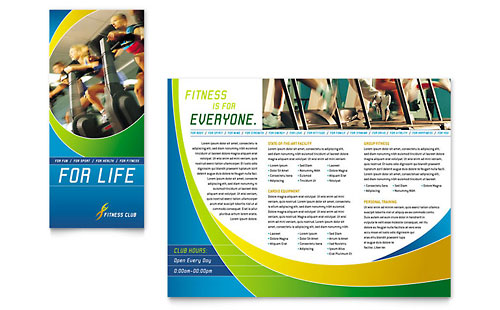 Sports & Health Club Brochure Template