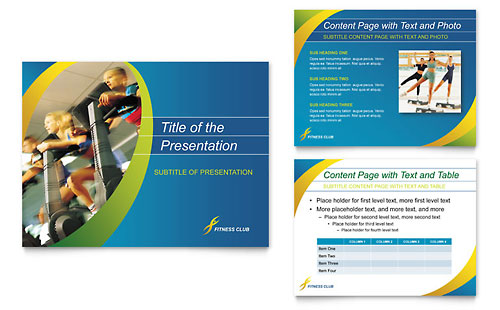Sports & Health Club PowerPoint Presentation Design Template