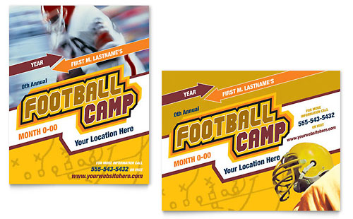 Football Sports Camp Poster Template Design