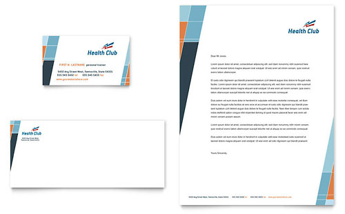 Health & Fitness Gym Business Card & Letterhead