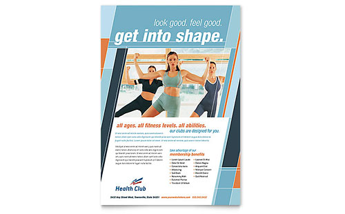 Health & Fitness Gym Flyer