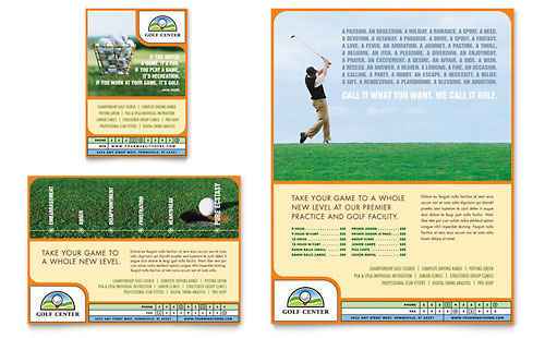 Golf Instructor & Course Flyer & Ad Template Design