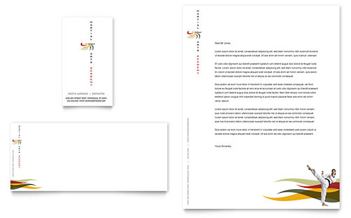 Karate & Martial Arts Business Card & Letterhead