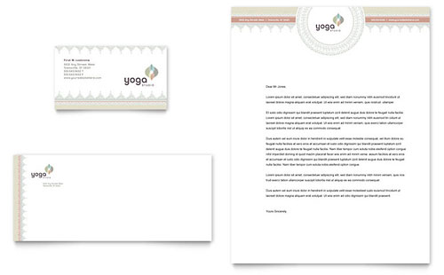 Pilates & Yoga Business Card & Letterhead Template Design