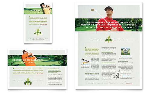 Golf Course & Instruction Flyer & Ad
