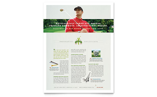 Golf Course & Instruction Flyer Template Design