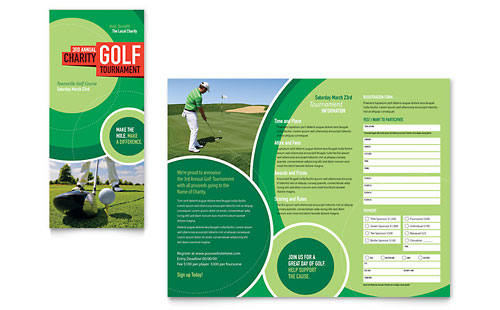 Golf Tournament Tri Fold Brochure Template Design