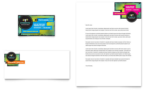 Strength Training Business Card & Letterhead