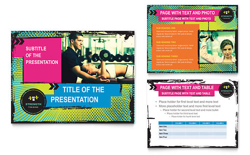 Strength Training PowerPoint Presentation Template Design