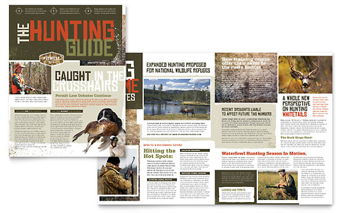 Hunting Guide Newsletter Template Design