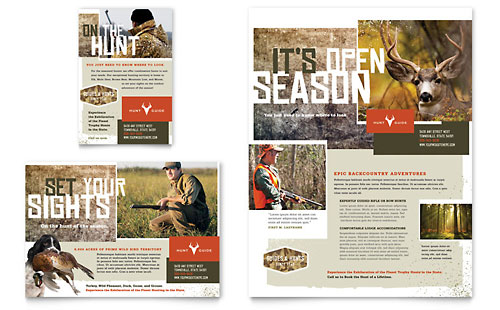 Hunting Guide Flyer & Ad Template Design