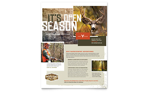 Hunting Guide Flyer