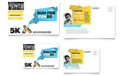 Charity Run Postcard