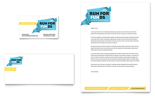 Charity Run Business Card & Letterhead