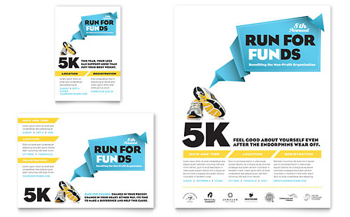 Charity Run Flyer & Ad