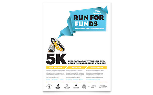 Charity Run Flyer Template